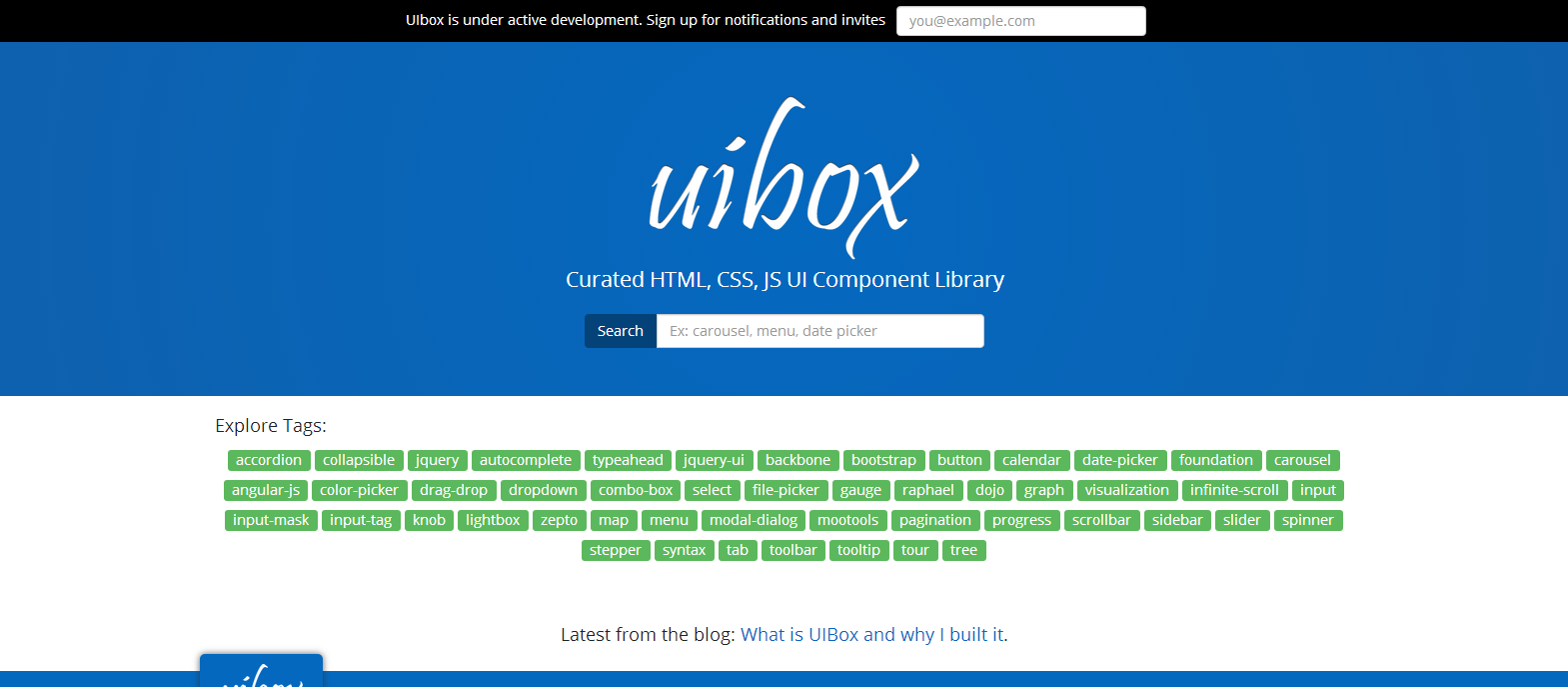 UIBox Curated HTML CSS JS UI Component Library - Web3Canvas