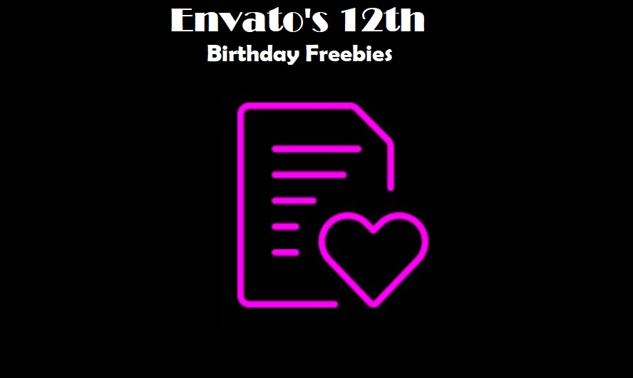 Envato's 12th Birthday Freebies
