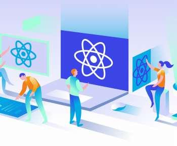 react isometric illustration